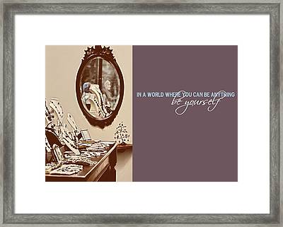 Boutique Quote Framed Print by JAMART Photography
