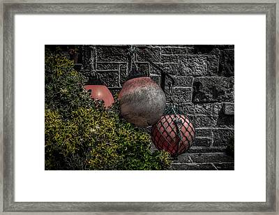 Bouys Framed Print by Martin Newman