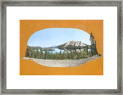 Framed Print featuring the painting Bove Island Alaska by Wendy Shoults
