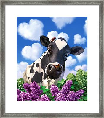 Bovinity Framed Print by Jerry LoFaro