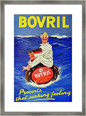 Bovril - Prevents That Sinking Feeling Framed Print