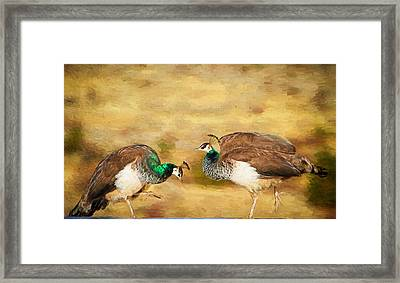 Bow And Curtsy Framed Print by Donna Kennedy