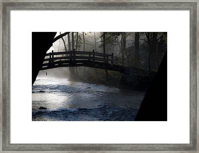 Bow Bridge At Valley Forge Framed Print by Bill Cannon