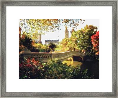 Bow Bridge - Autumn - Central Park Framed Print