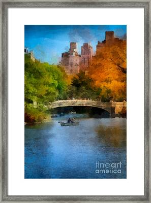 Bow Bridge Central Park Framed Print by Amy Cicconi