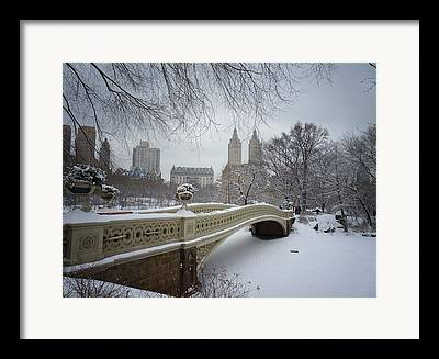 Blizzard Scenes Framed Prints