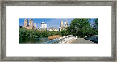 Bow Bridge, Central Park, Nyc, New York Framed Print