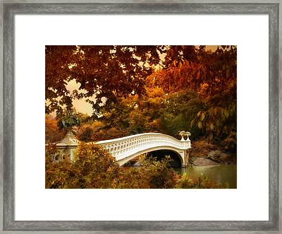 Bow Bridge Fall Fantasy Framed Print