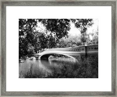 Bow Bridge In Black And White Framed Print