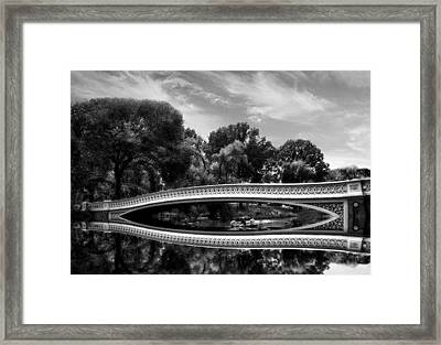 Bow Bridge In Monochrome Framed Print