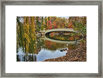 Bow Bridge Framed Print by June Marie Sobrito