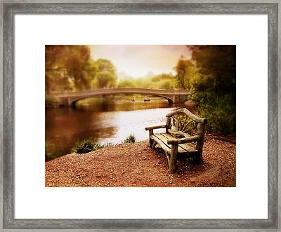 Bow Bridge Nostalgia 2 Framed Print by Jessica Jenney