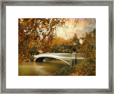 Bow Bridge October Framed Print