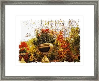 Bow Bridge Planters Framed Print