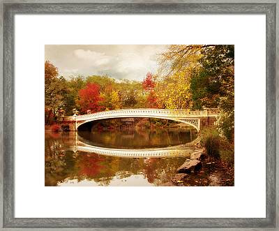 Bow Bridge Reflected Framed Print