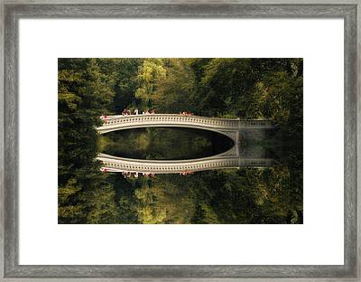 Bow Bridge Reflections Framed Print
