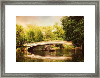Bow Bridge Rowers Framed Print