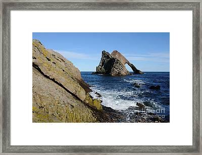 Bow Fiddle Rock In Scotland Framed Print by John Kelly