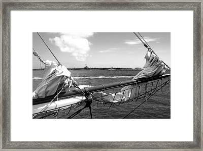 Bow Of A Sailboat Framed Print