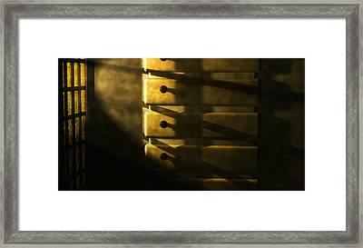 Bow Shade Interior Framed Print