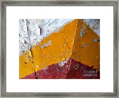 Framed Print featuring the photograph Bow Stripes by Robert Riordan