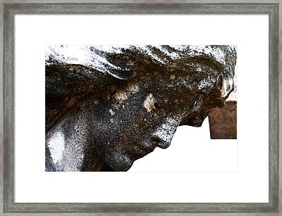 Bowed Head In Silence Framed Print