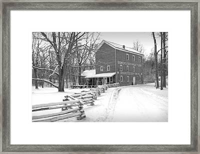 Bowen's Mill In Winter Framed Print
