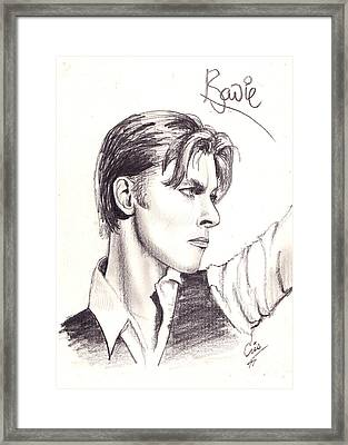 Bowie Framed Print by Cristophers Dream Artistry