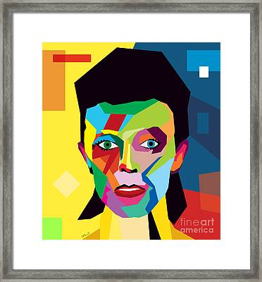 David Bowie Framed Print by Mark Ashkenazi