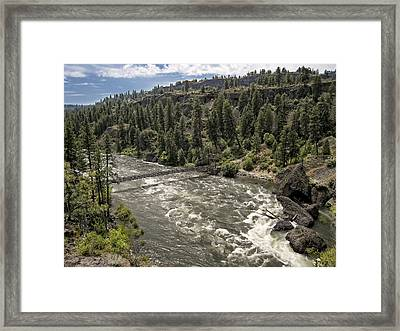 Bowl And Pitcher Area - Riverside State Park - Spokane Washington Framed Print by Daniel Hagerman
