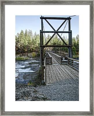 Bowl And Pitcher Bridge - Spokane Washington Framed Print by Daniel Hagerman