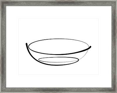 Bowl Line Framed Print