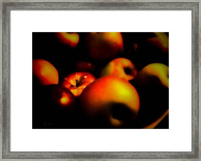 Bowl Of Apples Framed Print by Bob Orsillo