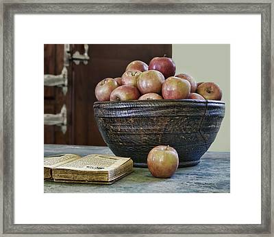 Bowl Of Apples Framed Print by Nikolyn McDonald