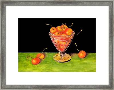 Bowl Of Cherries Framed Print