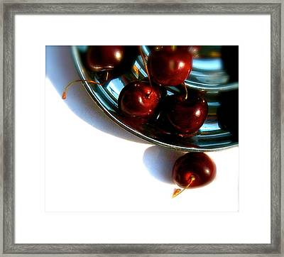 Bowl Of Cherries Framed Print by Tracy Male