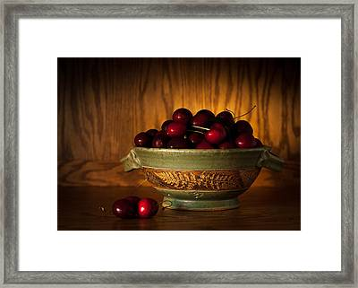 Framed Print featuring the photograph Bowl Of Cherries by Wayne Meyer