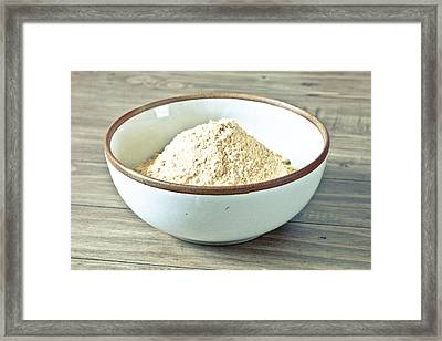 Bowl Of Flour Framed Print