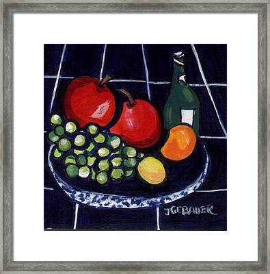 Framed Print featuring the painting Bowl Of Fruit 1 by Joyce Gebauer