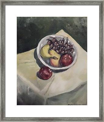 Bowl Of Fruit Framed Print