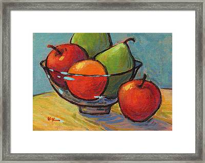 Bowl Of Fruit Framed Print