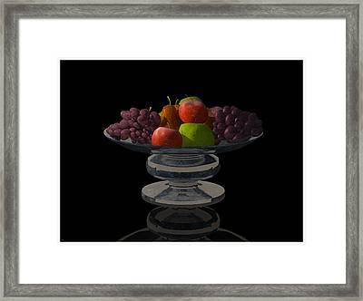 Bowl Of Fruit... Framed Print