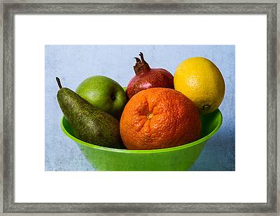 Bowl Of Fruits 2 Framed Print by Alexander Senin