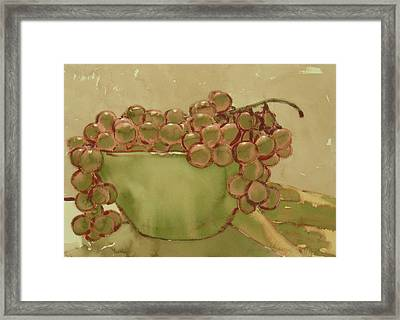 Bowl Of Grapes Framed Print