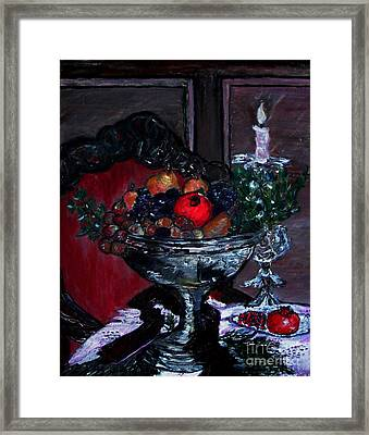 Bowl Of Holiday Passion Framed Print