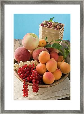 Bowl Of Mixed Fruit Framed Print