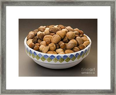 Bowl Of Mixed Nuts Framed Print by Danny Smythe