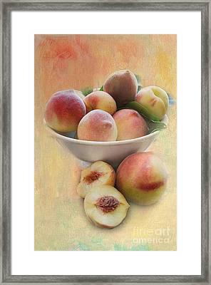 Bowl Of Peaches Framed Print