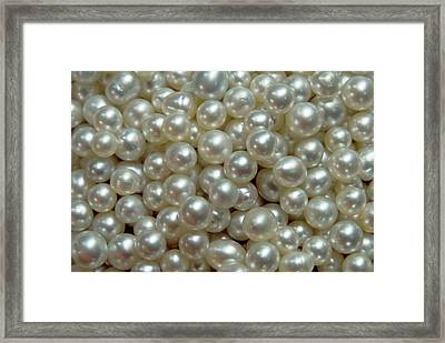 Bowl Of Pearls Cultured Framed Print