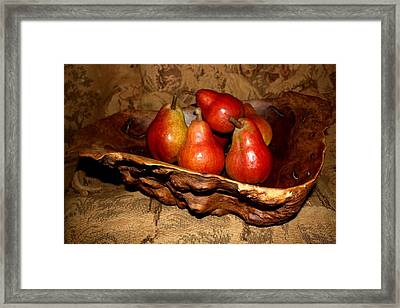 Bowl Of Pears - Still Life Framed Print